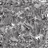 Black and white grunge wavy seamless pattern Royalty Free Stock Images