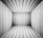 Black and white grungy wooden room for background Royalty Free Stock Images