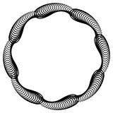 Black and white guilloche round frame.  Raster clip art. Stock Images