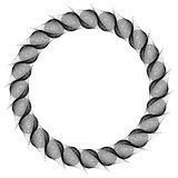 Black and white guilloche round frame.  Raster clip art. Stock Photography