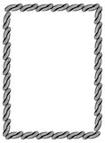 Black and white guilloche vertical frame.  Raster clip art. Royalty Free Stock Photography