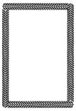 Black and white guilloche vertical frame.  Raster clip art. Black and white abstract vertical frame. Guilloche border for certificate or diploma, isolated Royalty Free Stock Image