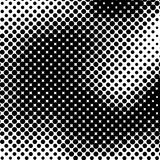 Black and White Halftone Background Stock Image