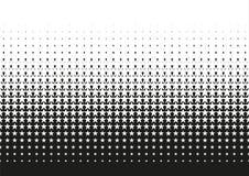 Halftone dot pattern gradient in vector format. Black and white halftone dot pattern gradient in vector format royalty free illustration