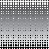 Black white halftone dots Stock Images