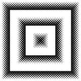 Black and White Halftone Frame with Copyspace for Presentation o Royalty Free Stock Image
