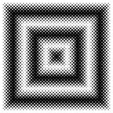 Black and White Halftone Frame with Copyspace for Presentation o Royalty Free Stock Images