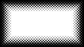 Black and White Halftone Frame with Copyspace for Presentation o Stock Photos