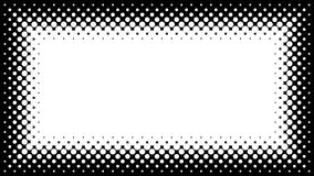 Black and White Halftone Frame with Copyspace for Presentation o Royalty Free Stock Photos