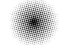Black and white halftone pattern. Background with points, dots, circles. Futuristic panel. Abstract monochrome backdrop Stock Image