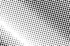 Black and white halftone pattern. Background with points, dots, circles. Futuristic panel. Abstract monochrome backdrop Stock Images