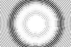 Black on white halftone vector texture. Concentrated circle dotted gradient. Rough dotwork surface for vintage effect. Monochrome halftone overlay. Perforated royalty free illustration