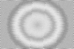 Black and white halftone vector texture. Concentrated dotted gradient. Rough dotwork surface. Vintage effect overlay. Textured with ink dots. Monochrome stock illustration