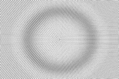Black and white halftone vector texture. Concentrated dotted gradient. Smooth dotwork surface. Vintage effect overlay. Textured with ink dots. Monochrome vector illustration