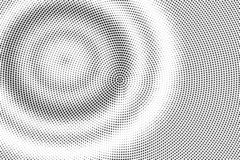 Black on white halftone vector texture. Digital optical illusion. Concentrated dotwork gradient for vintage effect. Monochrome halftone overlay. Perforated vector illustration