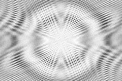 Black and white halftone vector texture. Round dotted gradient. Concentrated dotwork surface. Vintage effect overlay. Textured with ink dots. Monochrome stock illustration