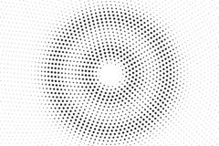 Black and white halftone vector texture. Textured round dotted gradient. Concentrated dotwork surface for vintage effect. Monochrome halftone overlay stock illustration