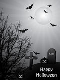 Black and white halloween Royalty Free Stock Image