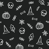 Black and white Halloween background. Stock Photos