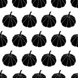 Black And White Halloween Seamless Pattern Stock Photo