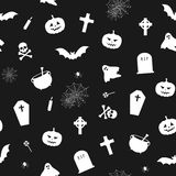 Black and white halloween pattern Royalty Free Stock Images