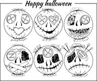Black and white halloween-style smiles of horror Royalty Free Stock Image