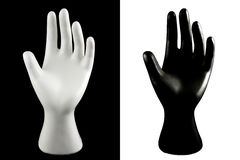 Black and white hand Royalty Free Stock Photos