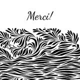 Black and white hand drawn merci background Royalty Free Stock Photography