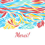 Black and white hand drawn merci background Stock Photos