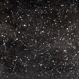 Black and white hand drawn night sky Stock Photography