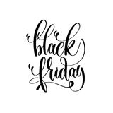 Black and white hand lettering inscription to black friday deals Stock Photo