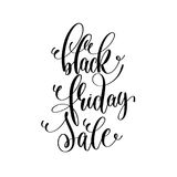 Black and white hand lettering inscription to black friday Royalty Free Stock Photography