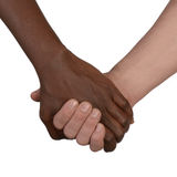 Black and white hand Love Partnership stock image