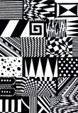 abstract shapes pattern Royalty Free Stock Images