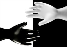 Black and white hands Royalty Free Stock Image