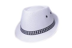 Black and White Hat isolated Stock Photography