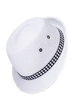 Black and White Hat isolated Royalty Free Stock Photography