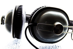 Black and White Headphone Royalty Free Stock Image
