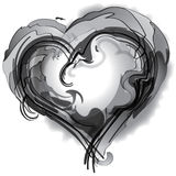 Black and White Heart Stock Photos