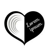Black and white heart Royalty Free Stock Images