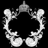 Black And White  Heraldic Art Deco Quad Royalty Free Stock Images