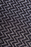 Black and white herringbone fabric Royalty Free Stock Images