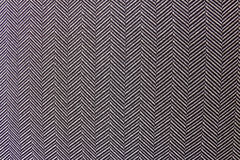 Black and white Herringbone Textile Texture. Background Stock Photography