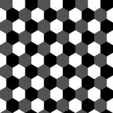 Black and white hexagon geometric seamless pattern, vector Royalty Free Stock Image