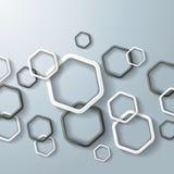 Black And White Hexagon Rings Stock Photos