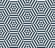 Black and white hexagon seamless pattern. Vector Royalty Free Stock Photos