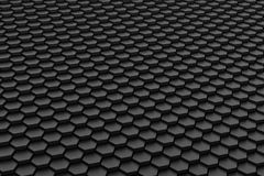 Black and white hexagon tile Stock Images