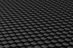 Black and white hexagon tile. In a random pattern height, 3d, honeycomb, render, blender, background stock illustration