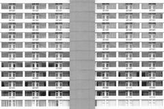 Black and white - High building backgrund Stock Photography