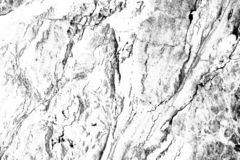 Black and white high contrast marble texture. Desaturated high contrast image royalty free stock photography